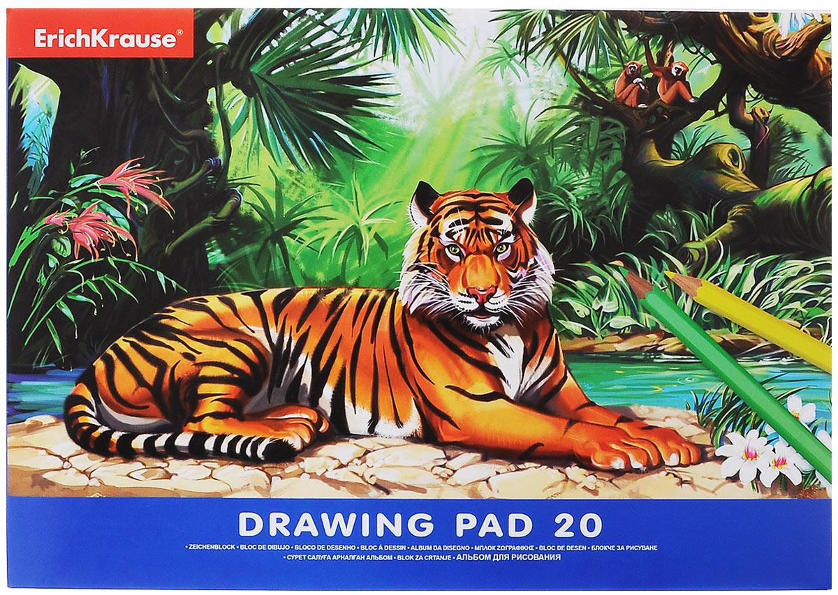 Erich Krause Альбом для рисования Тигр 20 листов37165_тигрАльбом для рисования Erich Krause с изображением тигра непременно порадует маленького художника и вдохновит его на творчество. Высокое качество бумаги позволяет карандашам, фломастерам и краскам ровно ложиться на поверхность и не растекаться по листу. Способ крепления - клеевой. Во время рисования совершенствуется ассоциативное, аналитическое и творческое мышление. Занимаясь изобразительным творчеством, ребенок тренирует мелкую моторику рук, становится более усидчивым и спокойным и, конечно, приобщается к общечеловеческой культуре.