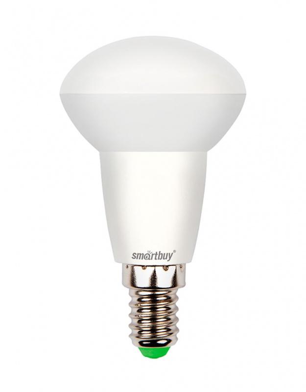 Лампа светодиодная Smartbuy, R50, холодный свет, цоколь Е14, 6 ВтSBL-R50-06-40K-E14-AСветодиодная лампа Smartbuy - энергосберегающая лампа, которая создает уникальное яркое освещение при помощи встраиваемых светильников. Матовая поверхность лампы обеспечивает равномерную освещенность. Лампа R50 повторяет форму и размеры стандартных рефлекторных ламп R50 с цоколем Е14 миньон, она подходит к стандартным встраиваемым потолочным точечным светильникам R50.В светодиодных лампах серии R50 применяются высокоэффективные светодиоды, что обеспечивает высокую надежность и эффективность источников света до 80 лм/ Вт. При этом коэффициент цветопередачи обеспечивается на уровне Ra>80.Особенности:- Хорошая цветопередача.- Угол освещения: 180°.- Отсутствие мерцания обеспечивает меньшую утомляемость глаз.- Высокоэффективный драйвер обеспечивает стабильную работу.- Устойчивость к механическому воздействию.- Большой срок службы - 30 000 часов работы.- Широкий рабочий температурный режим от -25° до +45°С.- Не содержит ртуть, экологически безопасна.Тип колбы: R50.Индекс цветопередачи: RA>80.Частота: 50 Гц.Напряжение: 220-240 В.Коэффициент мощности: 0,06.