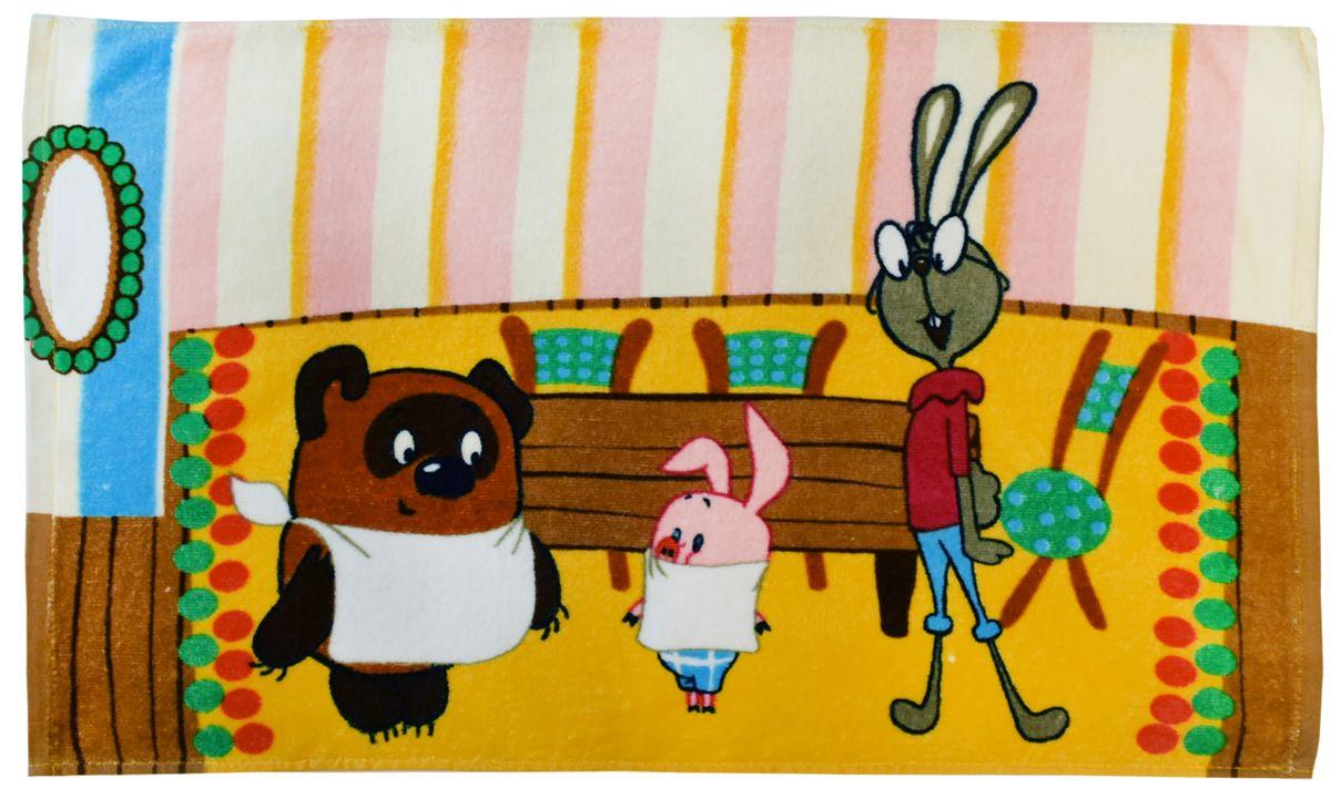 Мульткарнавал Полотенце махровое Винни-Пух 40 х 70 см01300115870Махровое полотенце Мульткарнавал Винни-Пух, выполненное из натурального 100% хлопка, подарит вашему малышу мягкость и необыкновенный комфорт в использовании. Полотенце украшено изображением Винни-Пуха, Пятачка и Кролика.Красочное изображение любимых героев и невероятная мягкость полотенца обязательно приведут в восторг вашего ребенка и превратят любое купание в веселую и увлекательную игру.Ткань не вызывает аллергических реакций, обладает высокой гигроскопичностью и воздухопроницаемостью. Полотенце великолепно впитывает влагу, нежное на ощупь и не теряет своих свойств после многократной стирки.Внимание, уважаемые покупатели! Возможны изменения в дизайне товара.