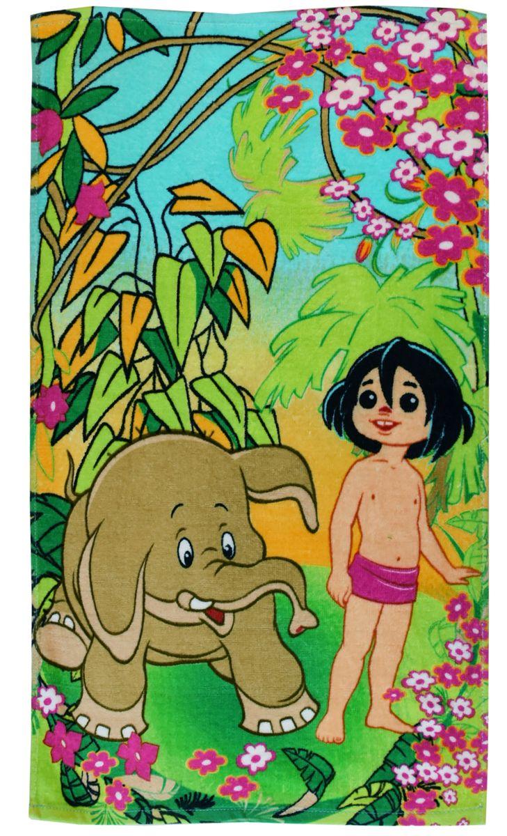Мульткарнавал Полотенце махровое Маугли 40 x 70 см -  Все для купания