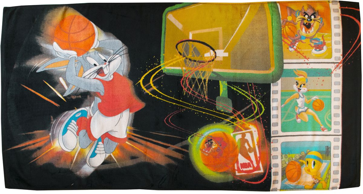 Полотенце 70*140 см, махровое, Баскетболисты01300115892Красочные полотенца 2 в 1: одна сторона развлекает, другая — вытирает.Разнообразие расцветок полотенец поможет окунуться в мир волшебных сказок и мультипликационных героев.