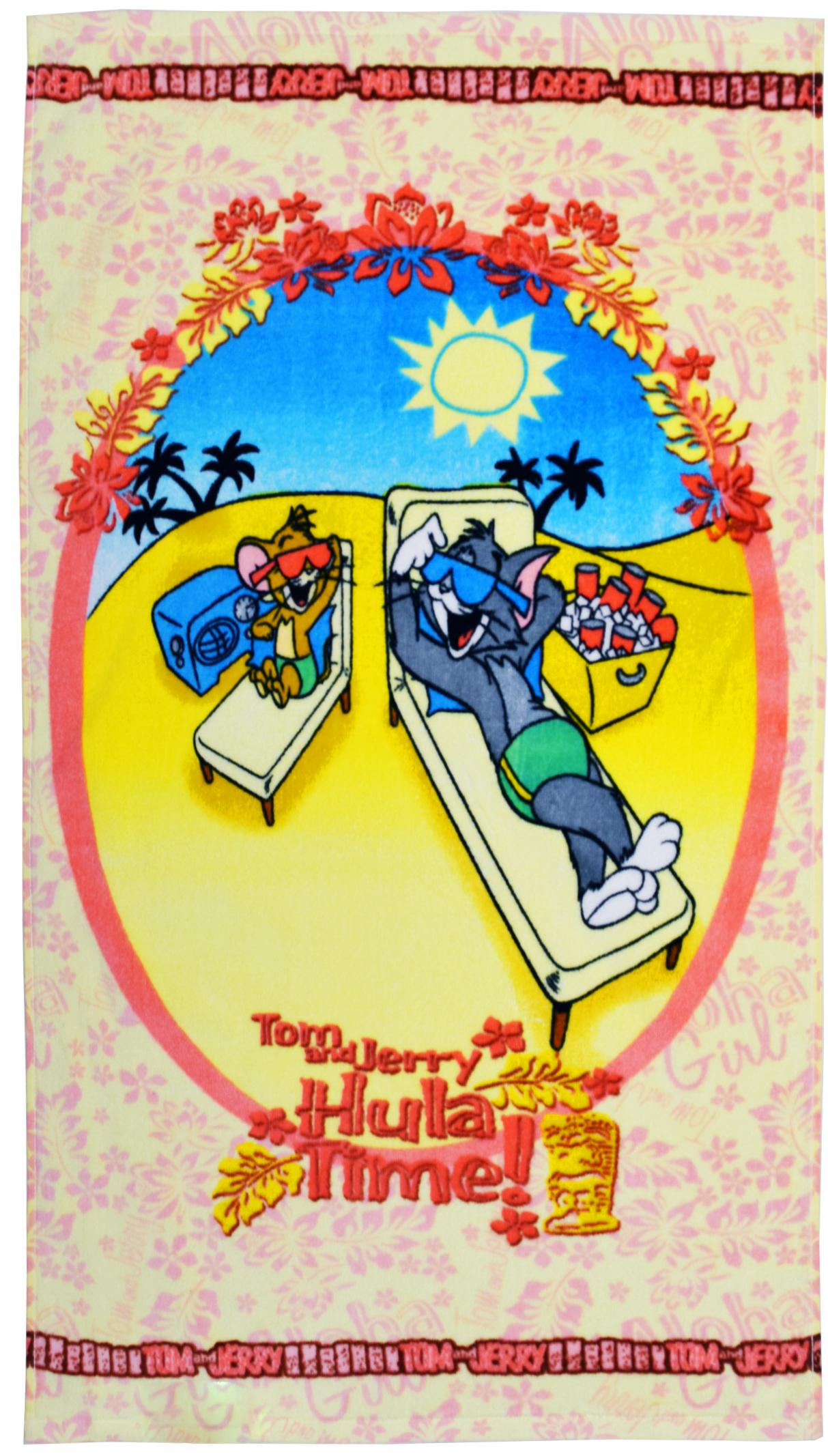 Полотенце 50*90 см, махровое, Том и Джерри на отдыхе01300215954Красочные полотенца 2 в 1: одна сторона развлекает, другая — вытирает.Разнообразие расцветок полотенец поможет окунуться в мир волшебных сказок и мультипликационных героев.Уважаемые клиенты!Обращаем ваше внимание на возможные изменения в дизайне, связанные с ассортиментом продукции: дизайн может отличаться от представленного на изображении. Поставка осуществляется в зависимости от наличия на складе
