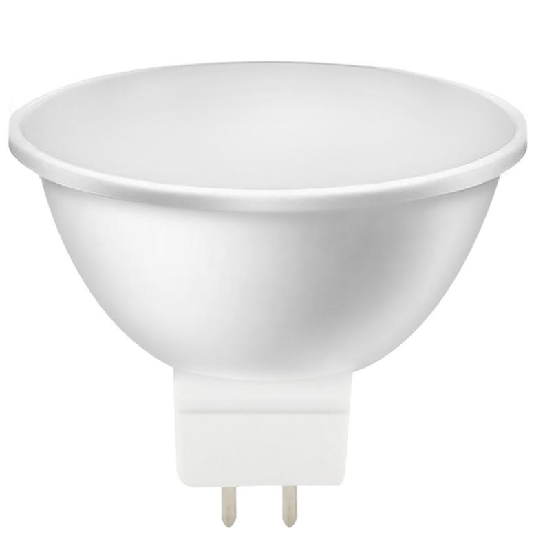 Лампа светодиодная Smartbuy, MR16, холодный свет, цоколь Gu5,3, 5 ВтSBL-GU5_3-05-40K-NСветодиодная лампа Smartbuy Gu5.3 - энергосберегающая лампа направленного света, которая широко используется в помещениях - в различных точечных потолочных светильниках, для украшения витрин, в рекламных конструкциях и вывесках и многом другом. Светодиодные лампы повторяют форму и размеры стандартных галогенных ламп MR16 и PAR16 и идеально подходят к любому светильнику, в котором используются данные типы ламп. Такие лампы-рефлекторы особенно популярны в подвесных потолках. В светодиодных лампах серий Gu5.3 применяются высокоэффективные светодиоды, что обеспечивает высокую надежность и эффективность источников света до 80 лм/Вт. При этом коэффициент цветопередачи обеспечивается на уровне Ra>80. Особенности: - Хорошая цветопередача. - Угол освещения: 40-60°.- Отсутствие мерцания обеспечивает меньшую утомляемость глаз. - Высокоэффективный драйвер обеспечивает стабильную работу. - Устойчивость к механическому воздействию. - Большой срок службы - 30 000 часов работы. - Широкий рабочий температурный режим от -25° до +45°С. - Не содержит ртуть, экологически безопасна. Тип колбы: MR16. Индекс цветопередачи: RA>80. Частота: 50 Гц. Напряжение: 220-240 В. Коэффициент мощности: 0,06.