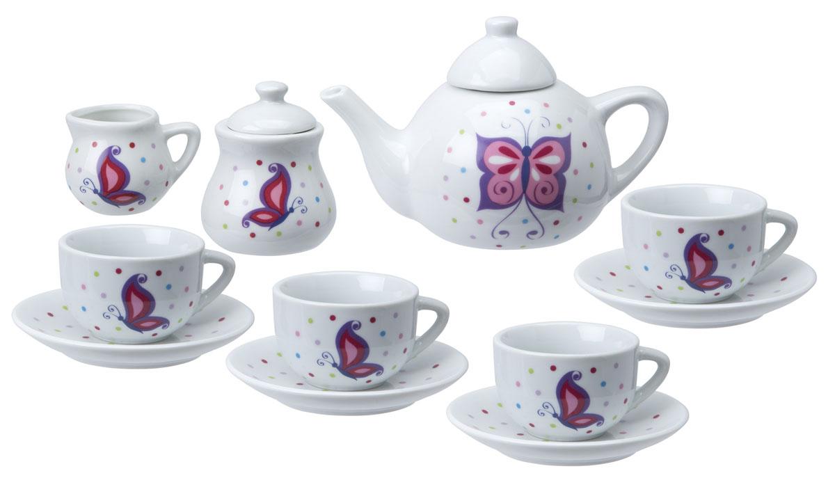 ALEX Чайный сервиз Поймай бабочку, керамика, 13 предм alex игровой набор посуды чайный сервиз весна 16 предметов