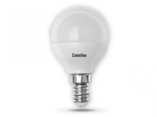 Лампа светодиодная Camelion, теплый свет, цоколь E14, 5W5-G45/830/E14Энергосберегающая лампа Camelion - это инновационное решение, разработанное на основе новейших светодиодных технологий (LED), для эффективной замены любых видов галогенных или обыкновенных ламп накаливания во всех типах осветительных приборов. Служит в 30 раз дольше обычных ламп, экономит 1200 кВт/ч. Она хорошо подойдет для создания рабочей атмосферы в производственных и общественных зданиях, спортивных и торговых залах, в офисах и учреждениях.Лампа не содержит ртути и других вредных веществ, экологически безопасна и не требует утилизации, не выделяет при работе ультрафиолетовое и инфракрасное излучение.Обладает высокой вибро- и ударопрочностью в связи с отсутствием нити накаливания и стеклянных трубок. Обеспечивает мгновенное включение без мерцания.Тип колбы: G45.Напряжение: 220-240В / 50 Гц.Индекс цветопередачи (Ra): 77+. Угол светового пучка: 220°.Использовать при температуре: от -30° до +40°.