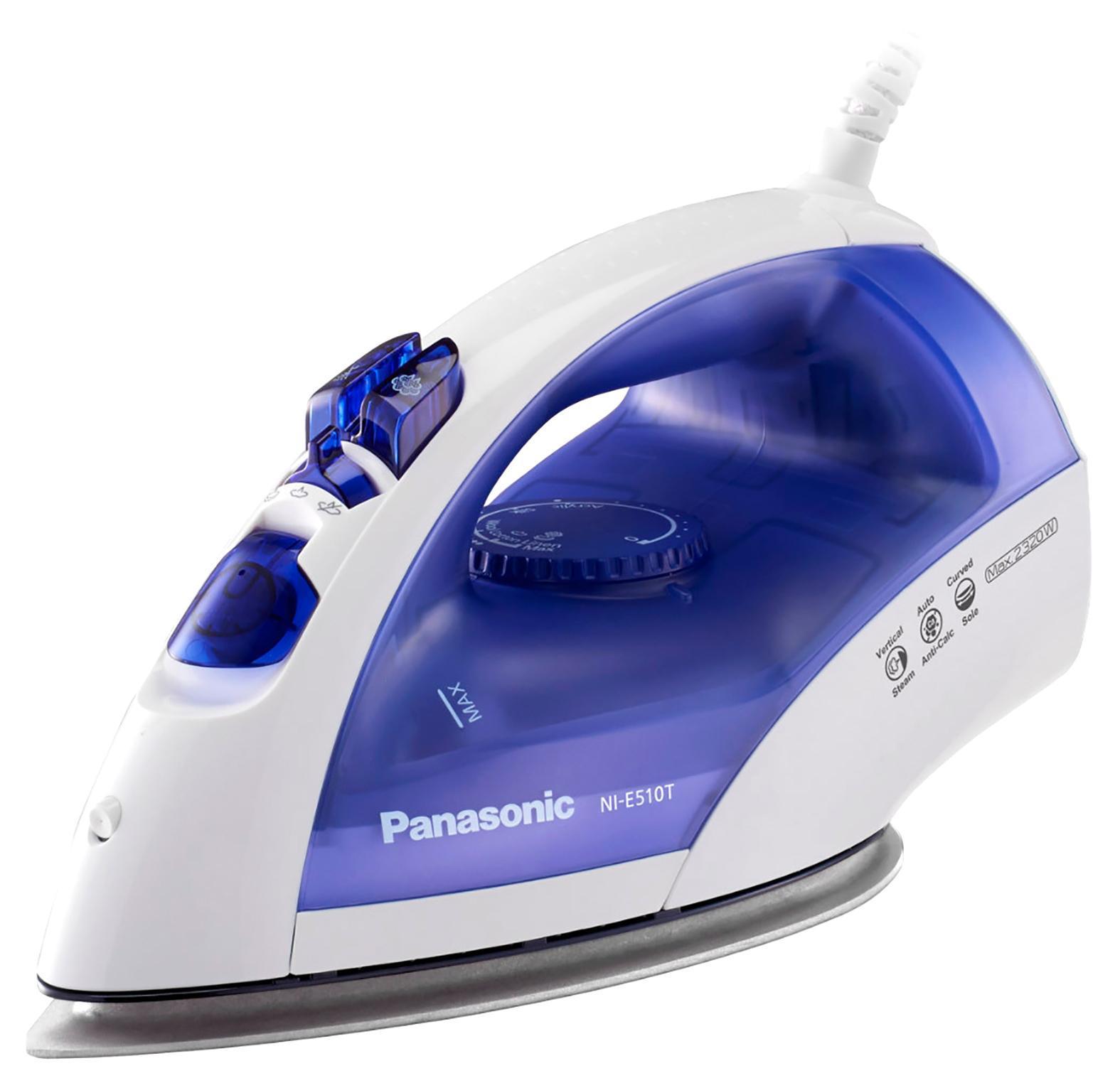 Panasonic NI-E510TDTW утюгNI-E510TDTWУтюг отличается хорошей функциональностью и низкой ценой. Его мощность в 2380 Вт обеспечивает быстрый нагрев подошвы и интенсивную подачу пара. Подошва выполнена из титана и отлично скользит по любому материалу. Далеко не каждую вещь удобно разглаживать на доске, а благодаря возможности вертикального использования одежду можно отпаривать непосредственно на вешалке. Если одежда пересохла, воспользуйтесь функцией разбрызгивания для равномерного увлажнения ткани. Подошва надежно защищена от протекания, так что во время глажки на вещах не возникнет мокрых разводов.