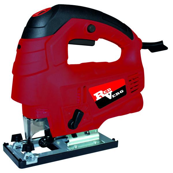 Лобзик RedVerg RD-JS850-100RD-JS850-100Компактный и мощный лобзик с маятниковым ходом предназначен для повышения производительности ручного труда при прямолинейном и фигурном пилении дерева, пластмассы, чёрных и цветных металлов, строительных материалов. Идеально подходит для домашних пользователей, а также для мастерских и небольших производств, при не частом использовании. Преимущества: Двойная изоляция электродвигателя - максимальная электробезопасность при работе от сети переменного тока с напряжением 220 В, без применения индивидуальных средств защиты и заземляющих устройств. Регулятор оборотов - выбор режима работы в зависимости от разрезаемого материала, высокое качество распила. Лазерная линейка - улучшает видимость линии распила даже при работе вне помещения, высокая точность распила. Низкий уровень вибрации - комфортная работа при выполнении пропилов. Маятниковый ход - быстрый распил различных материалов, снижение нагрузки на механизм привода (шток) и электродвигатель.