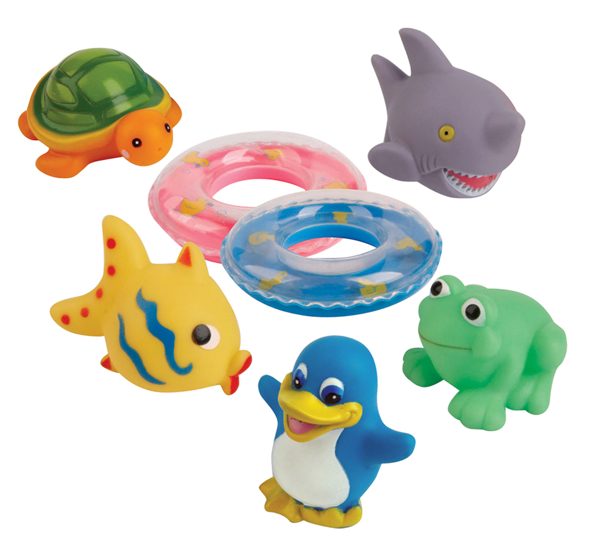 Курносики Набор игрушек для ванной Веселое купание 7 шт