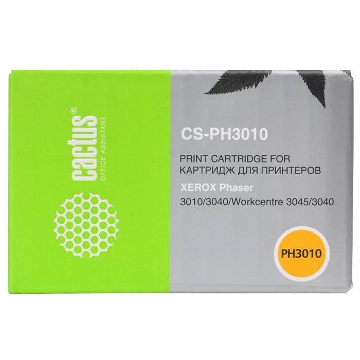 Cactus CS-PH3010, Black тонер-картридж для Xerox Phaser 3010 WorkCentre 3045 (106R02181) cactus cs pe220 013r00621 black тонер картридж для xerox workcentre pe220