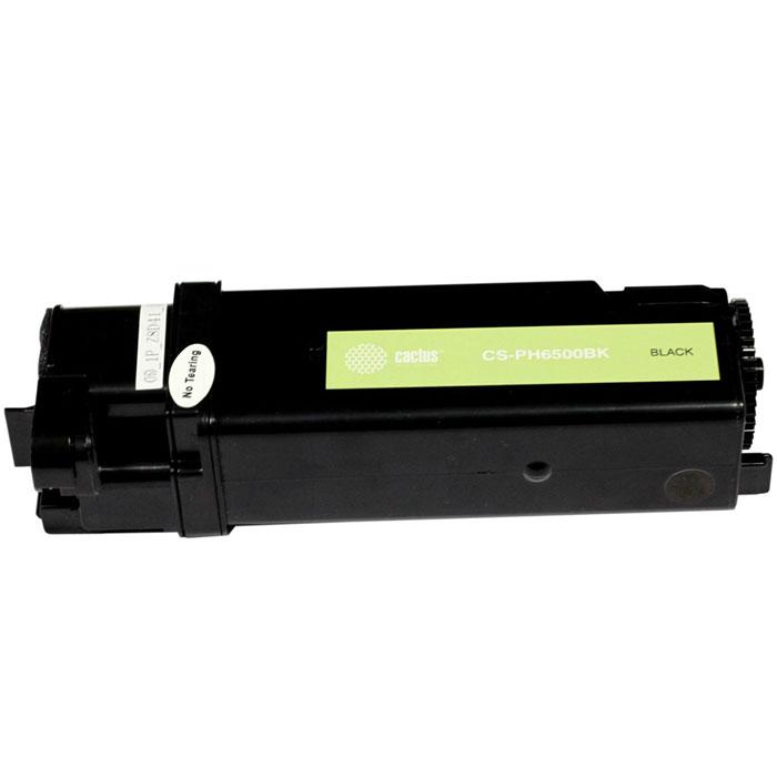 Cactus CS-PH6500BK, Black тонер-картридж для Xerox 6500/6505 (106R01604)CS-PH6500BKКартридж Cactus CS-PH6500BK для лазерных принтеров Xerox.Расходные материалы Cactus для лазерной печати максимизируют характеристики принтера. Обеспечивают повышенную чёткость чёрного текста и плавность переходов оттенков серого цвета и полутонов, позволяют отображать мельчайшие детали изображения. Обеспечивают надежное качество печати.