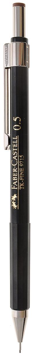 Faber-Castell Механический карандаш TK-FINE цвет кнопки коричневый263225Механический карандаш Faber-Castell - незаменимый атрибут современного делового человека дома и в офисе.Корпус карандаша круглой формы с металлическим клипом и наконечником выполнен из высококачественного пластика. Корпус дополнен надписями золотого цвета. Убирающийся внутрь кончик обеспечивает безопасное ношение карандаша в кармане.Толщина линии: 0,5 мм. Мягкое комфортное письмо и тонкие линии при написании принесут вам максимум удовольствия. Порадуйте друзей и знакомых, оказав им столь стильный знак внимания.