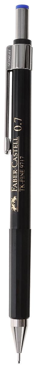 Faber-Castell Механический карандаш TK-FINE цвет кнопки синий263250Механический карандаш Faber-Castell - незаменимый атрибут современного делового человека дома и в офисе.Корпус карандаша круглой формы с металлическим клипом и наконечником выполнен из высококачественного пластика. Корпус дополнен надписями золотого цвета. Убирающийся внутрь кончик обеспечивает безопасное ношение карандаша в кармане.Толщина линии: 0,7 мм.Мягкое комфортное письмо и тонкие линии при написании принесут вам максимум удовольствия. Порадуйте друзей и знакомых, оказав им столь стильный знак внимания.