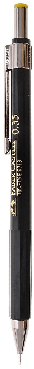 Faber-Castell Механический карандаш TK-FINE цвет кнопки желтый263249Механический карандаш Faber-Castell - незаменимый атрибут современного делового человека дома и в офисе.Корпус карандаша круглой формы с металлическим клипом и наконечником выполнен из высококачественного пластика. Корпус дополнен надписями золотого цвета. Убирающийся внутрь кончик обеспечивает безопасное ношение карандаша в кармане.Толщина линии: 0,35 мм. Мягкое комфортное письмо и тонкие линии при написании принесут вам максимум удовольствия. Порадуйте друзей и знакомых, оказав им столь стильный знак внимания.