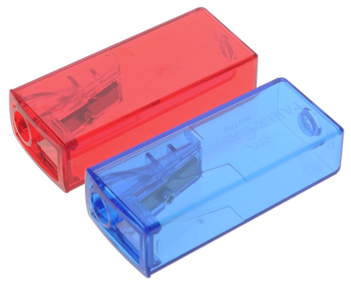 Faber-Castell Точилка флуоресцентная цвет синий красный 2 шт263332_синий, красныйТочилки Faber-Castell предназначены для затачивания карандашей диаметром 8 мм. Полупрозрачные контейнеры позволяют визуально определить уровень заполнения и вовремя произвести очистку. Острые стальные лезвия обеспечивают высококачественную и точную заточку деревянных карандашей. В комплекте две точилки разных цветов.