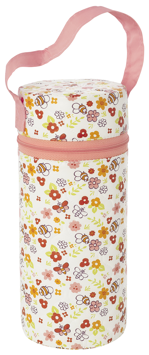 Контейнер для бутылочки Мир детства  Пчелки , трехслойный, цвет: белый, розовый -  Все для детского кормления