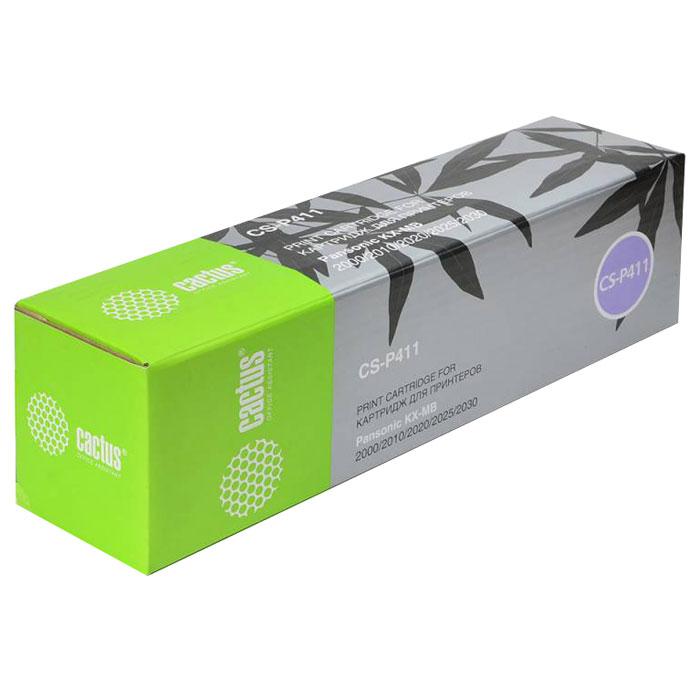Cactus CS-P411, Black тонер-картридж для Panasonic KXMB1900/MB2000/MB2010/MB2020/MB2025/MB2030/MB2051/MB2061CS-P411Картридж Cactus CS-P411 для лазерных принтеров Panasonic.Расходные материалы Cactus для лазерной печати максимизируют характеристики принтера. Обеспечивают повышенную чёткость чёрного текста и плавность переходов оттенков серого цвета и полутонов, позволяют отображать мельчайшие детали изображения. Обеспечивают надежное качество печати.
