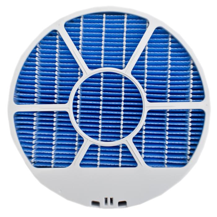 Sharp FZ-A61MFR фильтр для увлажнителя воздухаFZ-A61MFRУвлажняющий фильтр для очистителя-ионизатора воздуха Sharp FZ-A61MFR выполнен в форме диска из особого материала с губчатой впитывающей структурой. Он мгновенно пропитывается водой из специального отсека воздухоочистителя и при прохождении через данный фильтр поток воздуха не только увлажняется, но и очищается от разного рода крупных загрязнителей (частицы бытовой пыли, волосы, перхоть, шерсть домашних животных и т.п.). Подходит для Sharp KC-A41 / KC-A51RW / KC-A61RW.