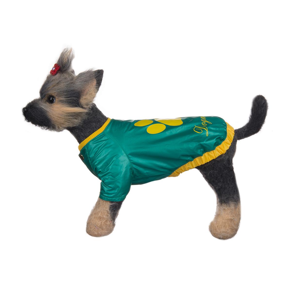 Куртка для собак Dogmoda Любимчик, унисекс, цвет: зеленый, желтый. Размер 4 (XL)