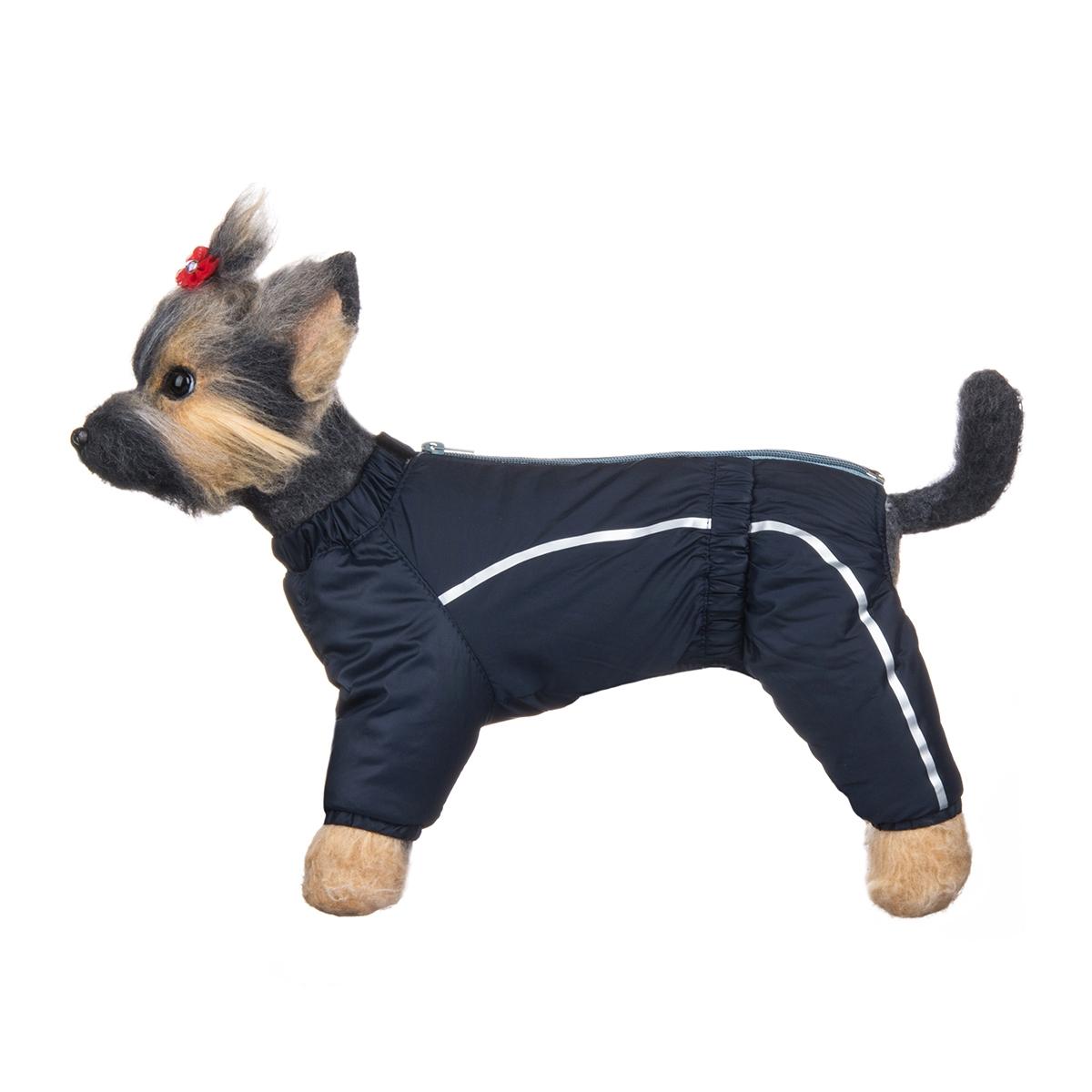 Комбинезон для собак Dogmoda Альпы, зимний, для мальчика, цвет: синий, светло-серый. Размер 4 (XL)DM-150351-4Зимний комбинезон для собак Dogmoda Альпы отлично подойдет для прогулок в зимнее время года.Комбинезон изготовлен из полиэстера, защищающего от ветра и снега, с утеплителем из синтепона, который сохранит тепло даже в сильные морозы, а на подкладке используется искусственный мех, который обеспечивает отличный воздухообмен. Комбинезон застегивается на молнию и липучку, благодаря чему его легко надевать и снимать. Ворот, низ рукавов и брючин оснащены внутренними резинками, которые мягко обхватывают шею и лапки, не позволяя просачиваться холодному воздуху. На пояснице имеется внутренняя резинка. Изделие декорировано серебристыми полосками и надписью DM.Благодаря такому комбинезону простуда не грозит вашему питомцу и он сможет испытать не сравнимое удовольствие от снежных игр и забав.