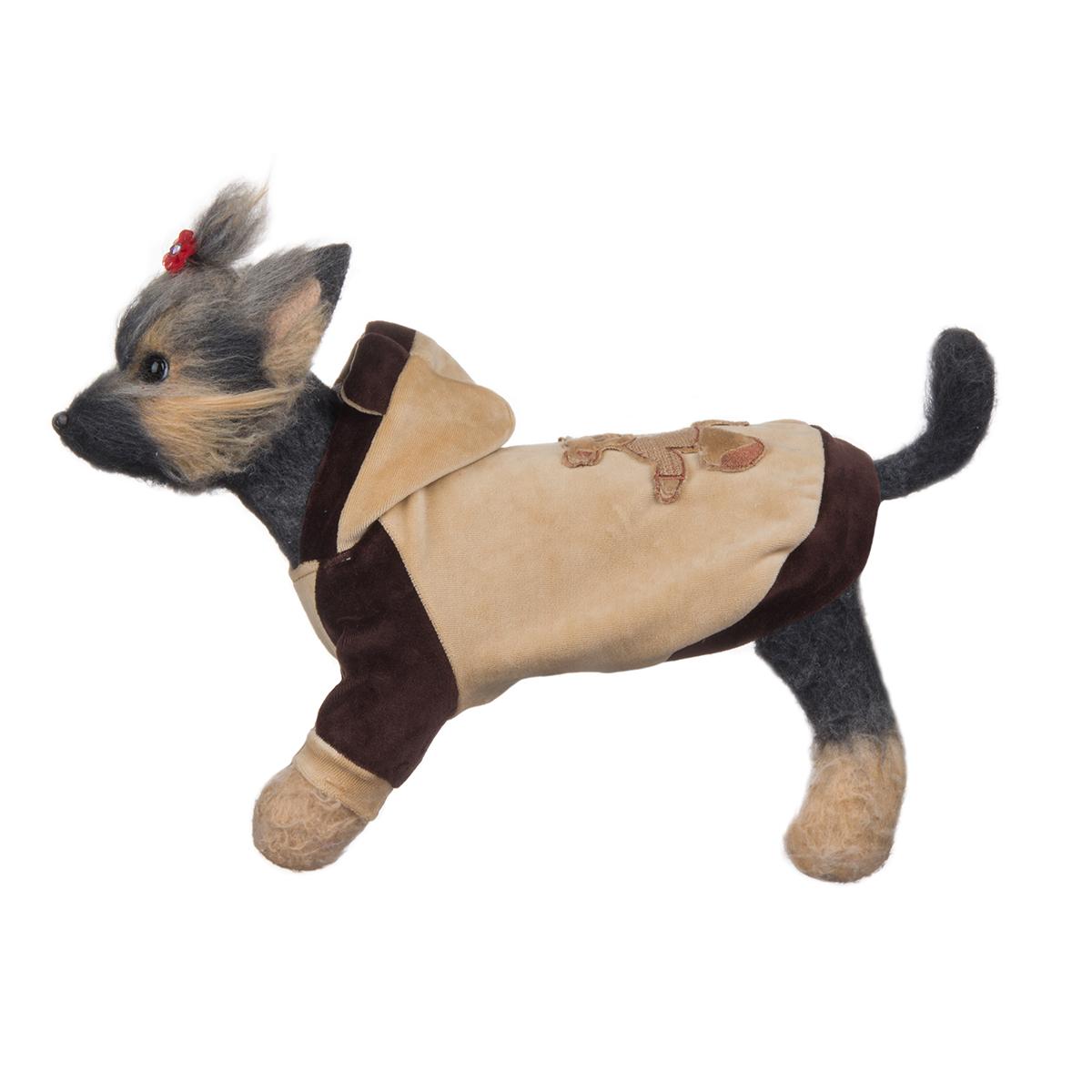 Куртка для собак Dogmoda Мишка, унисекс, цвет: коричневый, бежевый. Размер 3 (L)DM-130008-3Куртка для собак Dogmoda Мишка отлично подойдет для прогулок в сухую погоду или для дома.Куртка изготовлена из качественного мягкого велюра.Куртка с капюшоном достаточно широкая и не имеет застежек, ее легко надевать и снимать. Капюшон декорирован очаровательными ушками и не отстегивается. Низ рукавов оснащен широкими стильными манжетами. Спинка украшена вышитой аппликацией с изображением мишки.Благодаря такой куртке вашему питомцу будет комфортно наслаждаться прогулкой или играми дома.Одежда для собак: нужна ли она и как её выбрать. Статья OZON Гид