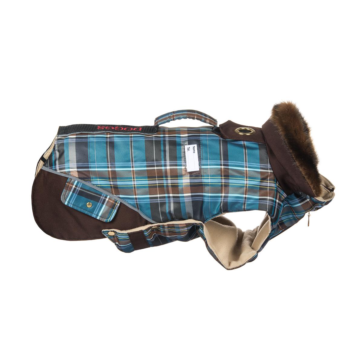 Попона для собак Dogmoda Doggs, для мальчика, цвет: синий, коричневый. Размер SDM-140544Теплая попона для собак Dogmoda Doggs отлично подойдет для прогулок в холодное время года. Попона изготовлена из водоотталкивающего полиэстера, защищающего от ветра и осадков, с утеплителем из синтепона, который сохранит тепло даже в сильные морозы, а на подкладке используется флис, который отлично сохраняет тепло и обеспечивает воздухообмен. Попона оснащена прорезями для ног и застегивается на кнопки, а высокий ворот с расширителем имеет застежку-молнию и кнопку, благодаря чему ее легко надевать и снимать. Ворот украшен искусственным мехом. На животе попона затягивается на шнурок-кулиску с зажимом. Спинка декорирована вышитой надписью Doggs, оснащена светоотражающими элементами и ручкой. Модель снабжена непромокаемым карманом для размещения записки с информацией о вашем питомце, на случай если он потеряется.Благодаря такой попоне питомцу будет тепло и комфортно в любое время года.Попона подходит для собак следующих пород: - вестхайленд- бишон-фризе- фокстерьер- вельштерьер- лейкленд- терьер- английский кокер- пудель малый- шелти- ши-тцу- пекинес.Одежда для собак: нужна ли она и как её выбрать. Статья OZON Гид