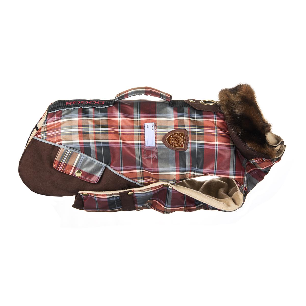 Попона для собак Dogmoda Doggs, для девочки, цвет: бордовый, коричневый. Размер XL
