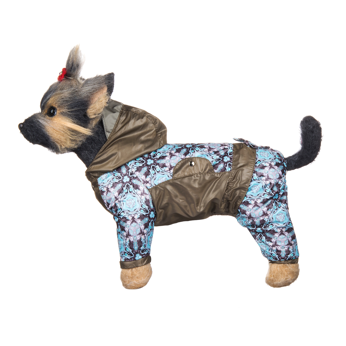 Комбинезон для собак Dogmoda Мартин, унисекс, цвет: мятный, коричневый. Размер 1 (S)DM-150038-1Комбинезон для собак Dogmoda Мартин отлично подойдет для прогулок поздней осенью или ранней весной.Комбинезон изготовлен из полиэстера, защищающего от ветра и осадков, с подкладкой из флиса, которая сохранит тепло и обеспечит отличный воздухообмен. Комбинезон с капюшоном застегивается на кнопки, благодаря чему его легко надевать и снимать. Капюшон оснащен козырьком и не отстегивается. Низ рукавов и брючин оснащен внутренними резинками, которые мягко обхватывают лапки, не позволяя просачиваться холодному воздуху. На пояснице комбинезон затягивается на шнурок-кулиску.Благодаря такому комбинезону простуда не грозит вашему питомцу и он не даст любимцу продрогнуть на прогулке.Одежда для собак: нужна ли она и как её выбрать. Статья OZON Гид