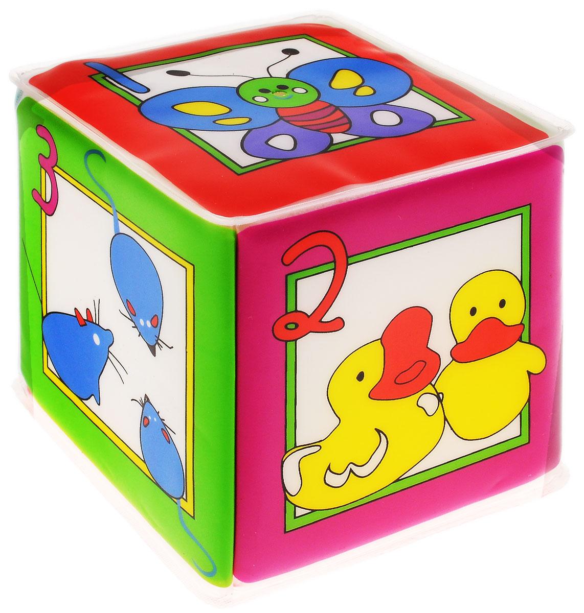 Курносики Игрушка-кубик с пищалкой Учимся считать транспорт нескучный кубик для равития интеллекта 2 кубика