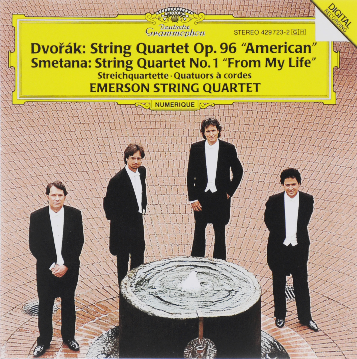 Emerson String Quartet Emerson String Quartet. String Quartet Op. 96 American / String Quartet No. 1 From My Life серьги by song quartet 3022
