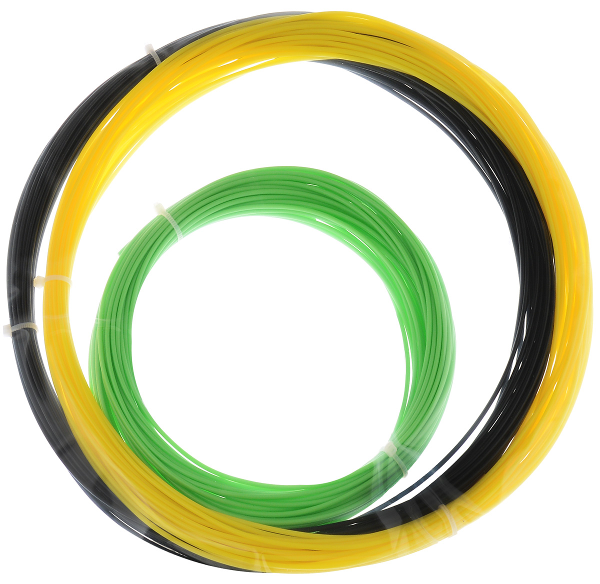 ESUN 3D Filament, Black Yellow Light Green комплект ABS-пластика, 10 м