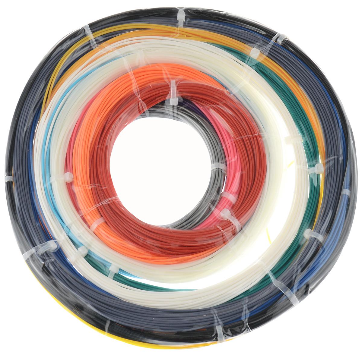ESUN комплект ABS-пластика, 14 цветов, 9 мABS175 Kits 3D PensКомплект ABS-пластика для 3D печати ESUN, состоящий из 14 цветов. Толщина пластика составляет 1,75 мм. Длина каждого мотка - 9 метров.