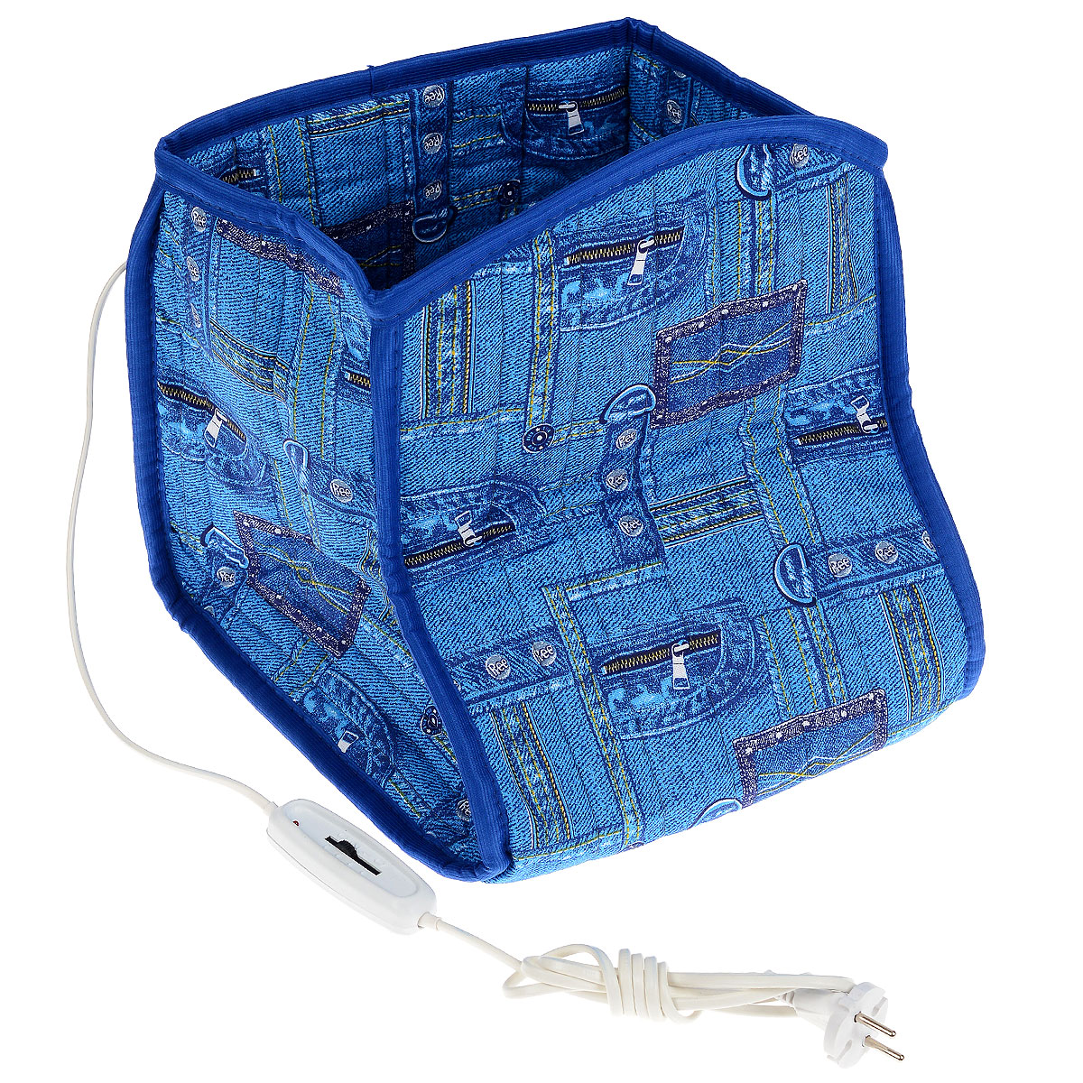 """Электросапог """"Инкор"""" с нагревательным элементом из экологически чистого углеродного  волокна (неметаллический нагревательный элемент, который не растягивается, не  ломается, не окисляется, не воспламеняется и не деформируется даже при сильных  нагрузках) - это низкотемпературный обогреватель, предназначенный для местного  обогрева ног в домашних условиях.  Этот обогреватель даст вам абсолютно безопасное сухое тепло с инфракрасным  излучением незаменимым при лечении многих заболеваний. Он поможет быстро  согреться после охлаждения, окажется полезным во время болезни, к тому же, в  результате теплового воздействия нормализуется кровообращение, смягчаются болевые  ощущения.  Электросапог оснащен четырехпозиционным переключателем режимов со светодиодом.  Две крайние позиции """"0"""" используются для выключения изделия без визуального  контроля. Позиция """"2"""" используется при предварительном прогреве (15-20 минут) или для  интенсивного согревания (не использовать более 30 минут). Позиция """"1"""" используется для  поддержания комфортной температуры.  ПРЕДУПРЕЖДЕНИЕ!  - Нельзя использовать в сложенном виде.  - Нельзя втыкать булавки - инородный металлический предмет может замкнуть  электроцепь изделия, что, в свою очередь, может привести к пожару.  - Нельзя использовать в мокром состоянии - наличие влаги может привести к замыканию  электроцепи.  - Нельзя применять для беспомощных лиц, детей и лиц не чувствительных к теплу.  - Нельзя стирать и подвергать сухой чистке. Температура нагрева (режим 2): 45-55 °С. Температура нагрева (режим 1): 25-40 °С. Номинальная частота: 50 Гц. Класс защиты поражения током: 2. Длина провода: 180 см.    УВАЖАЕМЫЕ КЛИЕНТЫ!    Товар поставляется в цветовом ассортименте. Поставка осуществляется в зависимости от  наличия на складе."""