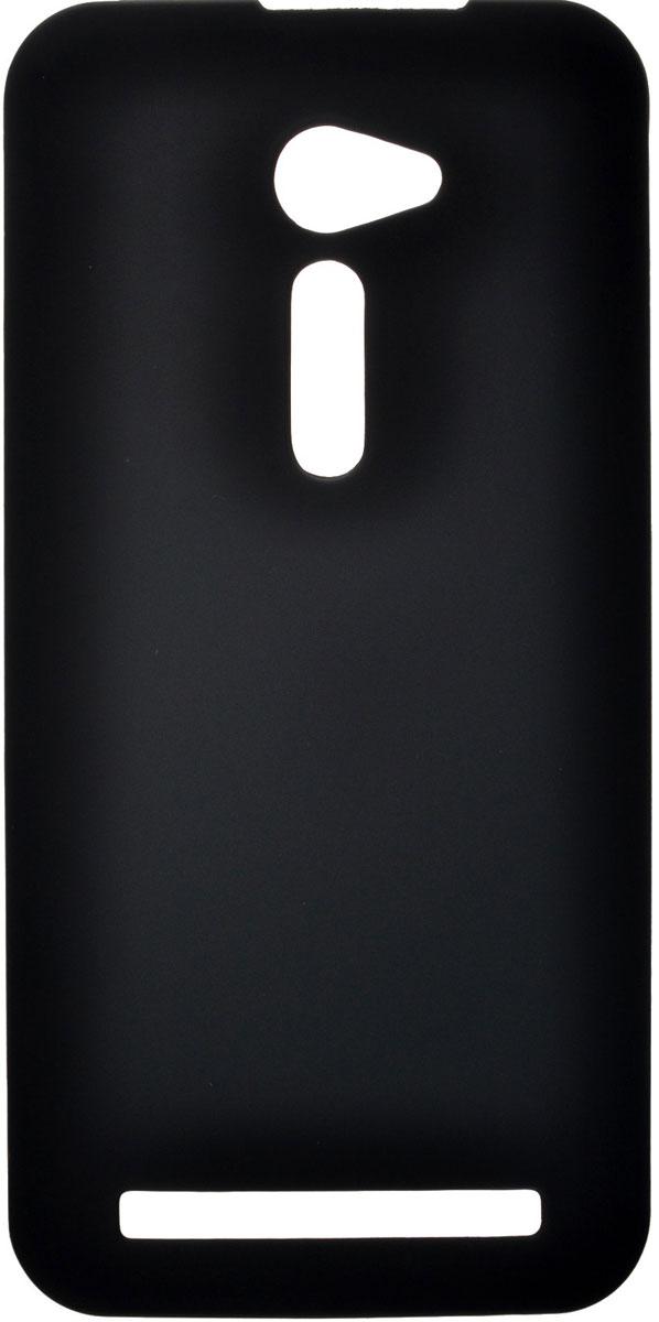 Skinbox 4People чехол для Asus ZenFone 2 (ZE500CL), BlackT-S-AZ25-002Чехол-накладка Skinbox 4People для Asus ZenFone 2 бережно и надежно защитит ваш смартфон от пыли, грязи, царапин и других повреждений. Чехол оставляет свободным доступ ко всем разъемам и кнопкам устройства. В комплект также входит защитная пленка на экран.