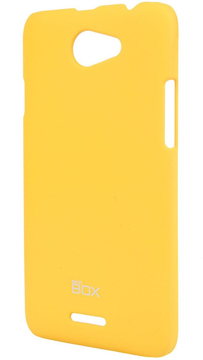Skinbox 4People чехол для HTC Desire 516, YellowT-S-HD516-002Чехол-накладка Skinbox 4People для HTC Desire 516 бережно и надежно защитит ваш смартфон от пыли, грязи, царапин и других повреждений. Чехол оставляет свободным доступ ко всем разъемам и кнопкам устройства. В комплект также входит защитная пленка на экран.