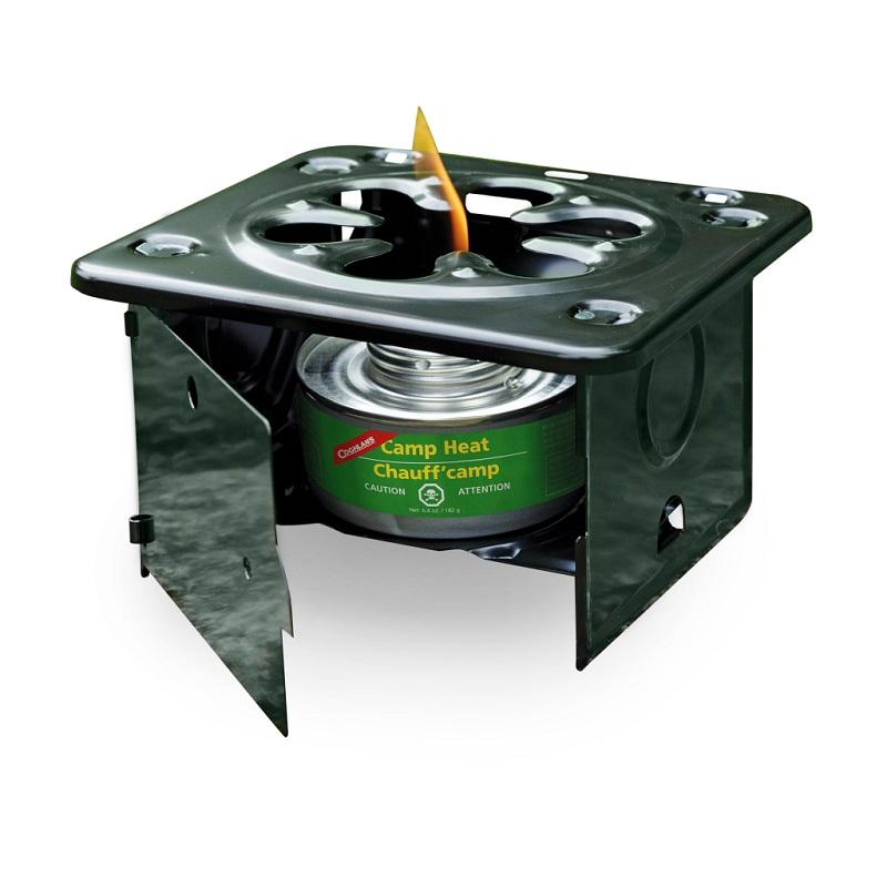 Очень удобная походная плита для быстрого приготовления пищи или горячего чая в туристическом лагере. В ней,   для разведения огня, можно использовать контейнеры с жидким топливом Coghlan