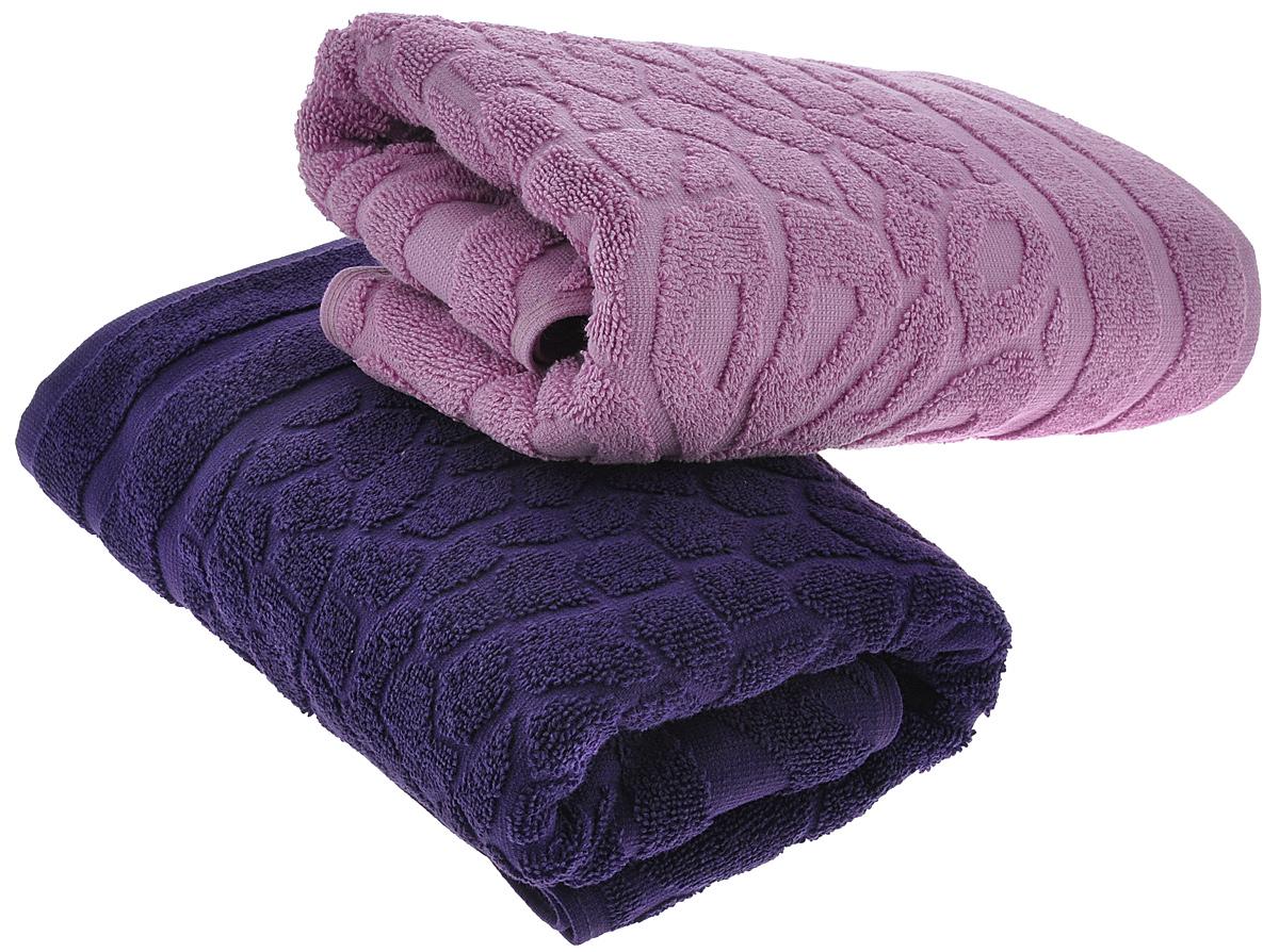 Набор полотенец Primavelle Vitra, цвет: фиолетовый, сиреневый, 50 х 90 см, 2 шт42850509-V1439Набор махровых полотенец Primavelle Vitra, изготовленных из натурального хлопка с оригинальным узором, подарит массу положительных эмоций и приятных ощущений. Каждое полотенце отличается нежностью и мягкостью материала, утонченным дизайном и превосходным качеством. Они прекрасно впитывают влагу, быстро сохнут и не теряют своих свойств после многократных стирок.Набор махровых полотенец Primavelle Vitra станет достойным выбором для вас и приятным подарком для ваших близких.
