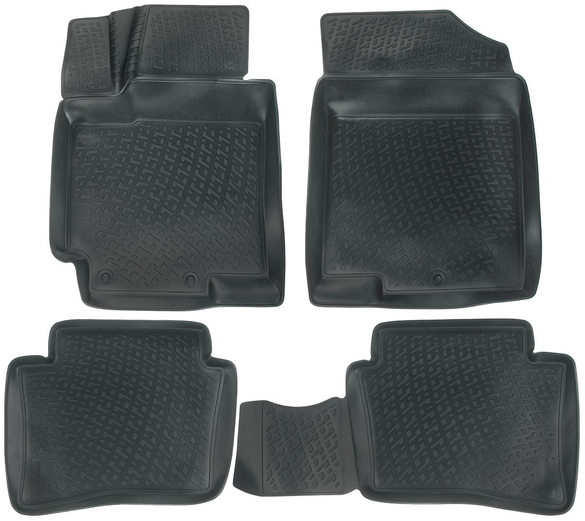 Набор автомобильных ковриков L.Locker Kia Rio 2011, в салон, 4 шт0203010601Набор L.Locker Kia Rio 2011, изготовленный из полиуретана,состоит из 4 антискользящих 3D ковриков,которые производятся индивидуально для каждой моделиавтомобиля. Изделие точно повторяет геометрию пола автомобиля, имеет высокийборт, обладает повышенной износоустойчивостью, лишено резкого запаха и сохраняет своипотребительские свойства в широком диапазоне температур от -50°С до +50°С.Комплектация: 4 шт.Размер ковриков: 75 см х 56 см; 85 см х 48 см; 56 см х 47 см; 74 см х 56 см.