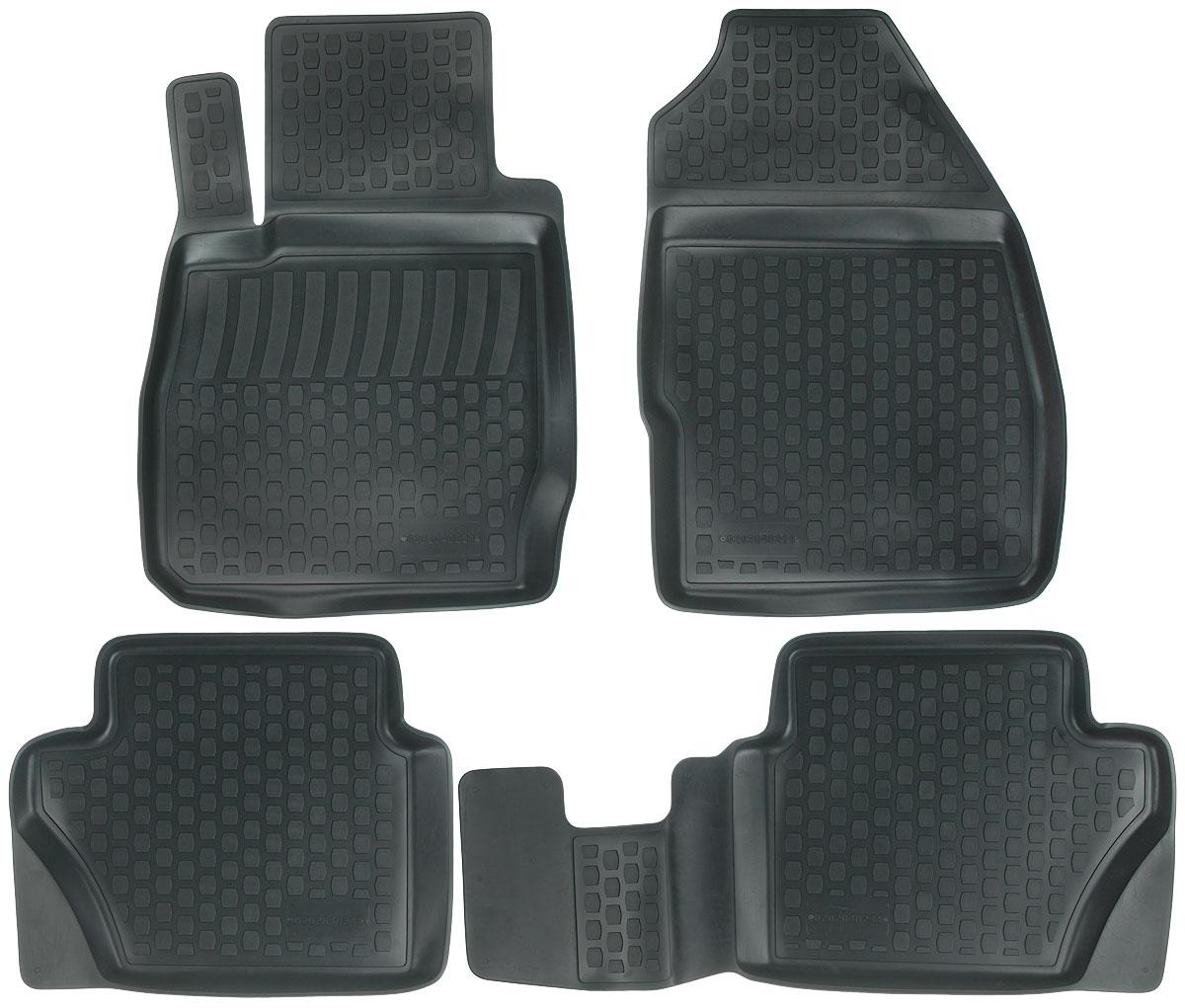 Набор автомобильных ковриков L.Locker Ford Fiesta 2008, в салон, 4 шт0202040201Набор L.Locker Ford Fiesta 2008, изготовленный из полиуретана,состоит из 4 ковриков, которые производятся индивидуально для каждой моделиавтомобиля. Изделие точно повторяет геометрию пола автомобиля, имеет высокийборт, обладает повышенной износоустойчивостью, лишено резкого запаха и сохраняет своипотребительские свойства в широком диапазоне температур от -50°С до +50°С.Комплектация: 4 шт.Размер ковриков: 74 см х 53 см; 86 см х 45 см; 54 см х 44 см; 75 см х 52 см.