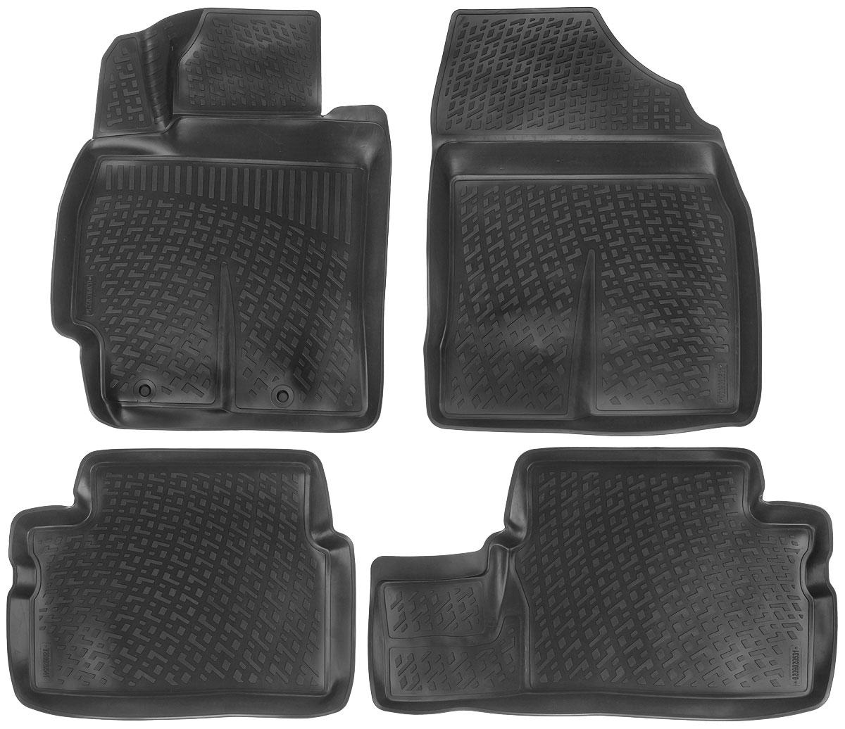 Набор автомобильных ковриков L.Locker Toyota Corolla/Auris 2007, в салон, 4 шт0209020501Набор L.Locker Toyota Corolla/Auris 2007, изготовленный из полиуретана, состоит из 4 антискользящих 3D ковриков, которые производятся индивидуально для каждой модели автомобиля. Изделие точно повторяет геометрию пола автомобиля, имеет высокий борт, обладает повышенной износоустойчивостью, лишено резкого запаха и сохраняет свои потребительские свойства в широком диапазоне температур от -50°С до +50°С. Набор подходит для автомобилей с 2007 года выпуска. Комплектация: 4 шт.Размер ковриков: 73 см х 58 см; 60 см х 46 см; 80 см х 46 см; 74 см х 57 см.