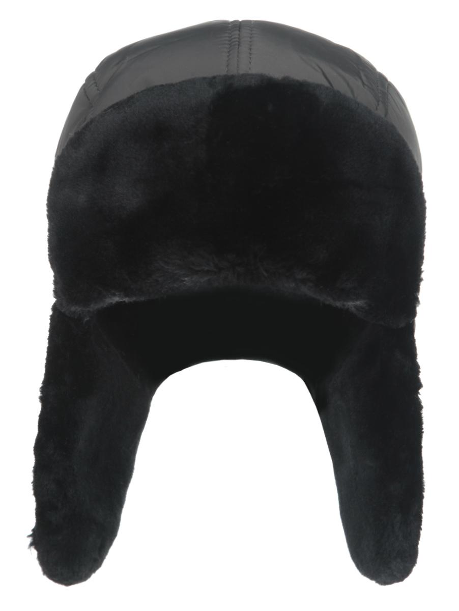 Шапка-ушанка мужская Canoe Chkalov, цвет: темно-серый, черный. 3441785. Размер 56/59