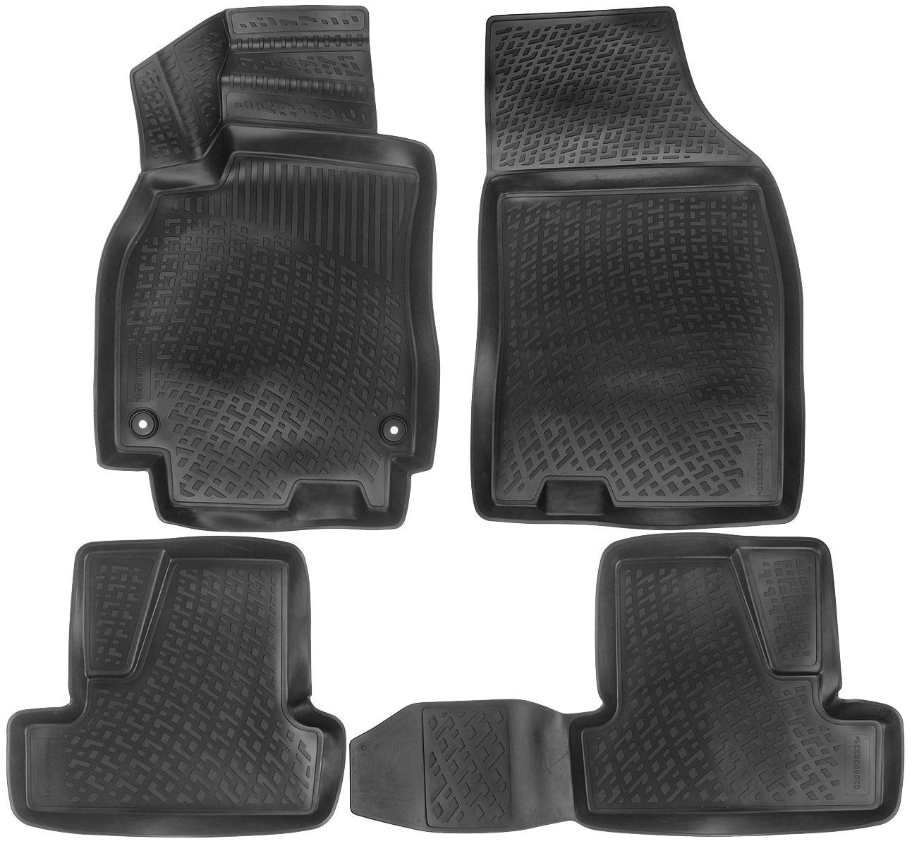 Набор автомобильных ковриков L.Locker Renault Megane III hb 2008, в салон, 4 шт0206030201Набор L.Locker Renault Megane III hb 2008, изготовленный из полиуретана, состоит из 4 антискользящих 3D ковриков, которые производятся индивидуально для каждой модели автомобиля. Изделие точно повторяет геометрию пола автомобиля, имеет высокий борт, обладает повышенной износоустойчивостью, лишено резкого запаха и сохраняет свои потребительские свойства в широком диапазоне температур от -50°С до +50°С. Набор подходит для автомобилей с 2008 года выпуска. Комплектация: 4 шт.Размер ковриков: 87 см х 57 см; 55 см х 50 см; 92 см х 50 см; 91 см х 57 см.