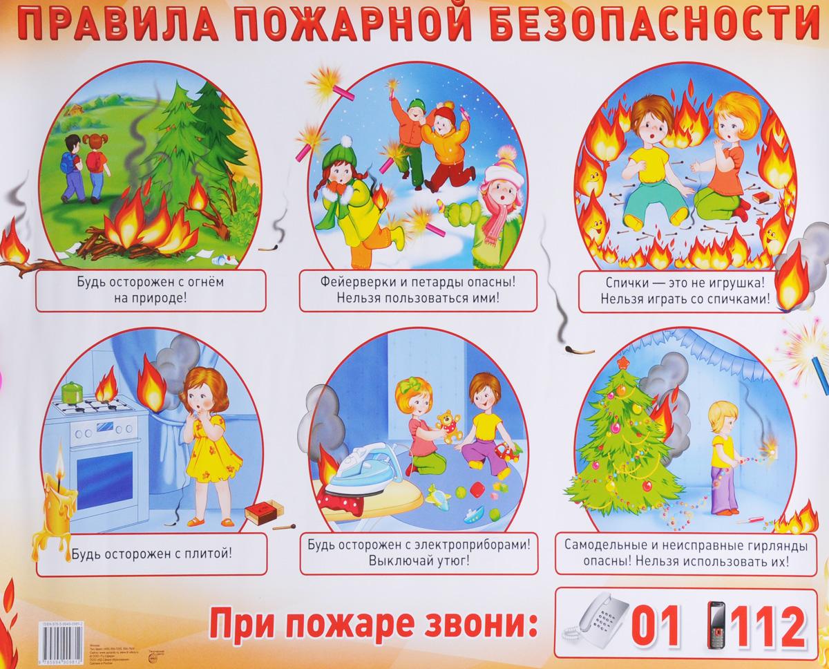 Правила пожарной безопасности. Плакат правила безопасности дома плакат
