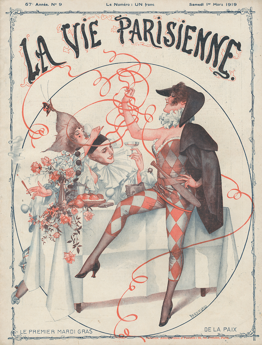 La Vie Parisienne, №9, mars 191931932064Париж, Imprimerie G. de Malherbe et Cie. Сохранность хорошая.Предлагаем вашему вниманию журнал La Vie Parisienne (Парижская жизнь). Редкое периодическое изданиеэпохи Модерн. Франция. Март 1919.