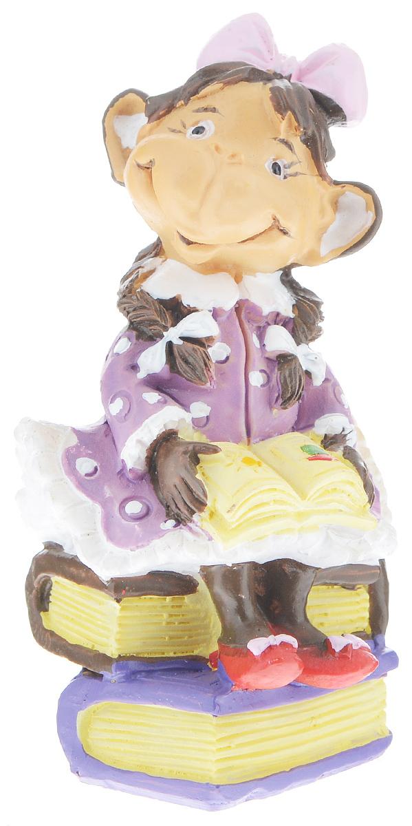Фигурка декоративная Обезьянка с книгой, высота 8 см фигурка декоративная обезьянка с подарками высота 8 см