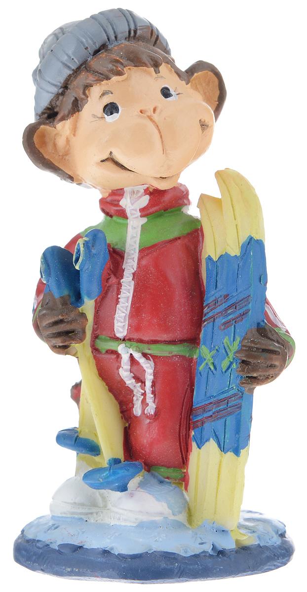 Фигурка декоративная Обезьянка-лыжник, высота 8,2 см фигурка декоративная обезьянка с подарками высота 8 см