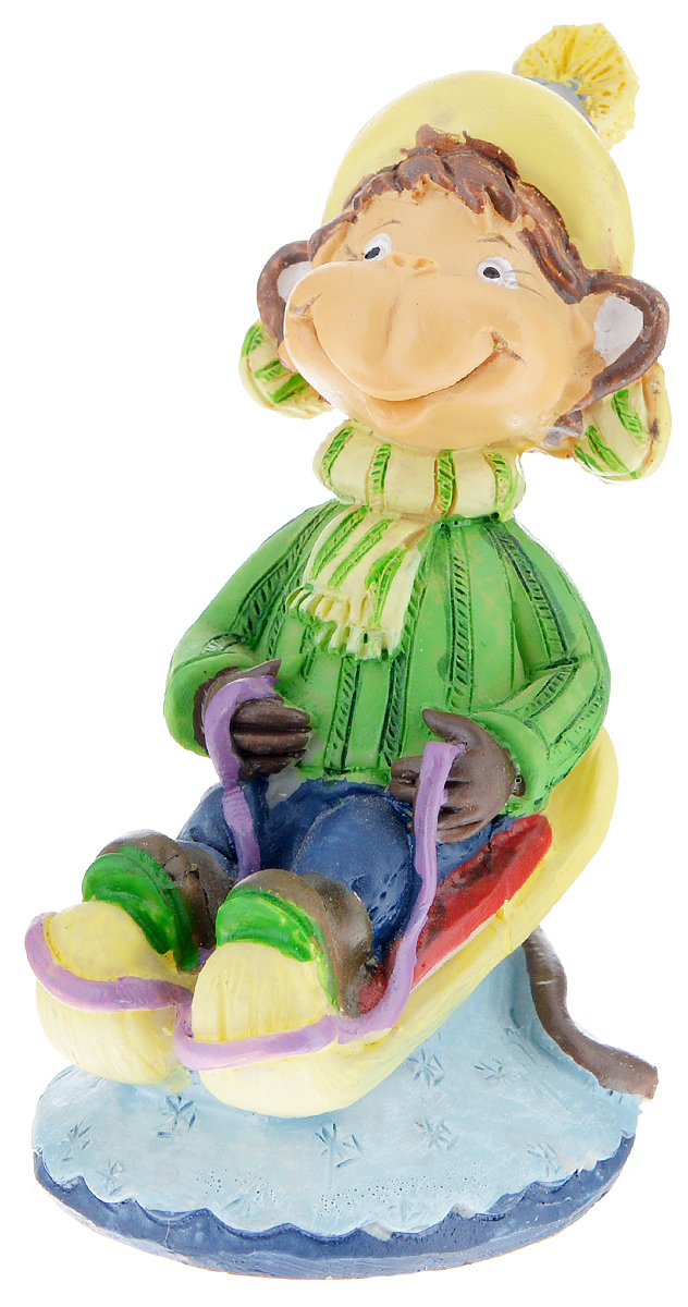 Фигурка декоративная Обезьянка в санях, высота 8 см фигурка декоративная обезьянка с подарками высота 8 см