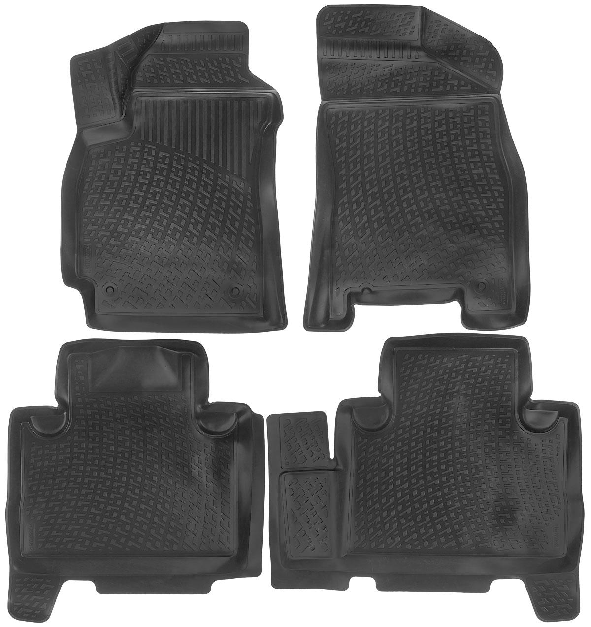 Набор автомобильных ковриков L.Locker Geely Emgrand X7 2011, в салон, 4 шт0225040301Набор L.Locker Geely Emgrand X7 2011, изготовленный из полиуретана, состоит из 4 антискользящих 3D ковриков, которые производятся индивидуально для каждой модели автомобиля. Изделие точно повторяет геометрию пола автомобиля, имеет высокий борт, обладает повышенной износоустойчивостью, лишено резкого запаха и сохраняет свои потребительские свойства в широком диапазоне температур от -50°С до +50°С. Комплектация: 4 шт.Размер ковриков: 78 см х 54 см; 70 см х 64 см; 80 см х 70 см; 82 см х 54 см.