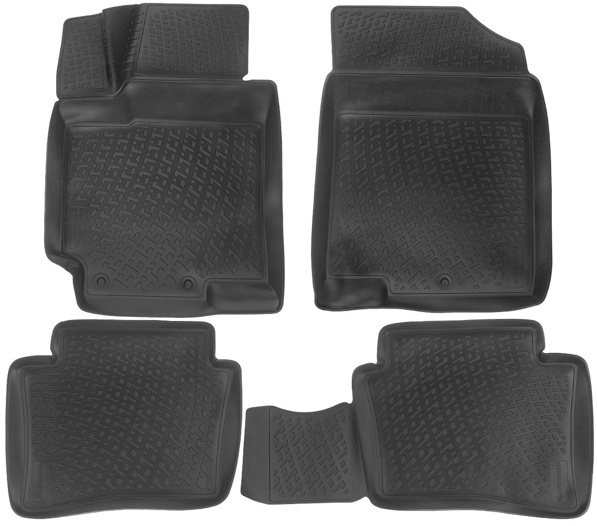 Набор автомобильных ковриков L.Locker Hyundai Accent IV 2010, в салон, 4 шт0204010401Набор L.Locker Hyundai Accent IV 2010, изготовленный из полиуретана, состоит из 4 антискользящих 3D ковриков, которые производятся индивидуально для каждой модели автомобиля. Изделие точно повторяет геометрию пола автомобиля, имеет высокий борт, обладает повышенной износоустойчивостью, лишено резкого запаха и сохраняет свои потребительские свойства в широком диапазоне температур от -50°С до +50°С. Комплектация: 4 шт.Размер ковриков: 75 см х 56 см; 84 см х 45 см; 56 см х 46 см; 73 см х 56 см.