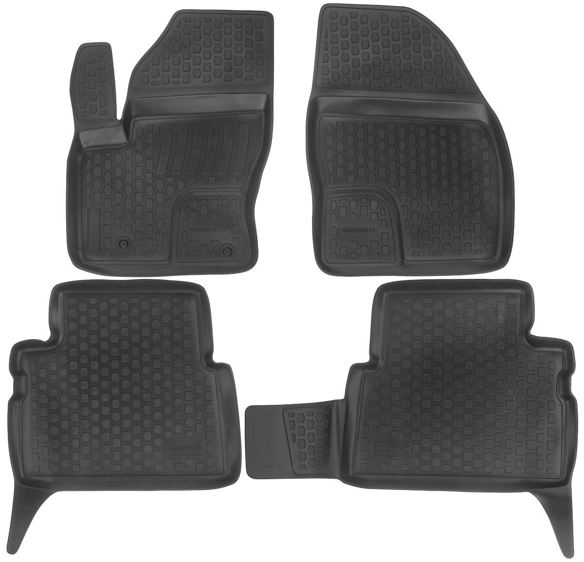 Набор автомобильных ковриков L.Locker Ford C-Max 2002, в салон, 4 шт0202070101Набор L.Locker Ford C-Max 2002, изготовленный из полиуретана, состоит из 4 антискользящих 3D ковриков, которые производятся индивидуально для каждой модели автомобиля. Изделие точно повторяет геометрию пола автомобиля, имеет высокий борт, обладает повышенной износоустойчивостью, лишено резкого запаха и сохраняет свои потребительские свойства в широком диапазоне температур от -50°С до +50°С. Комплектация: 4 шт.Размер ковриков: 69 см х 51 см; 59 см х 54 см; 87 см х 54 см; 70 см х 53 см.