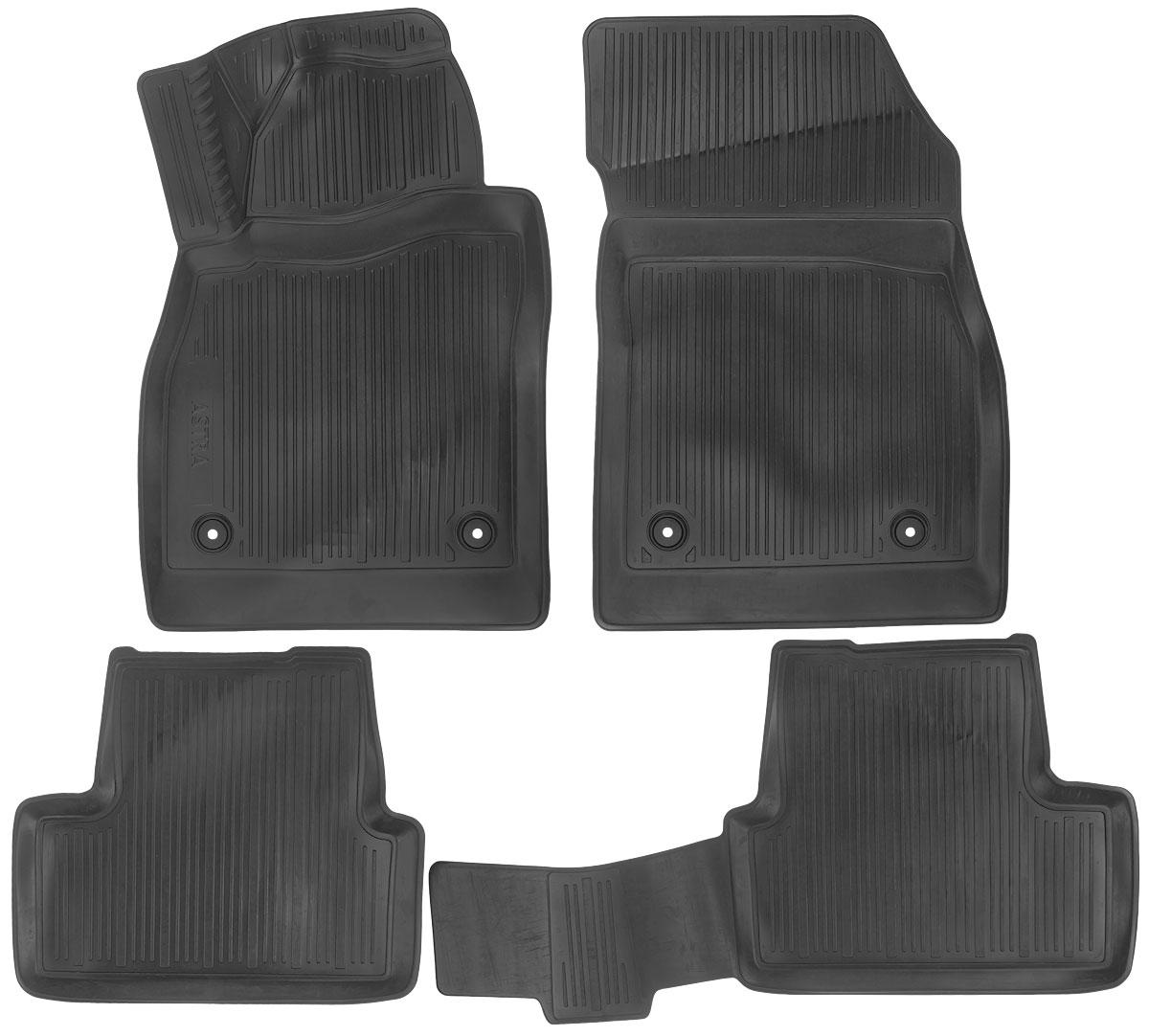 Набор автомобильных ковриков L.Locker Opel Astra J Hatchback 2009, в салон, 4 шт0211010101Набор L.Locker Opel Astra J Hatchback 2009, изготовленный из полиуретана, состоит из 4 антискользящих 3D ковриков, которые производятся индивидуально для каждой модели автомобиля. Изделие точно повторяет геометрию пола автомобиля, имеет высокий борт, обладает повышенной износоустойчивостью, лишено резкого запаха и сохраняет свои потребительские свойства в широком диапазоне температур от -50°С до +50°С.Комплектация: 4 шт.Размер ковриков: 80 см х 53 см; 53 см х 45,5 см; 93 см х 46 см; 81 см х 53 см.